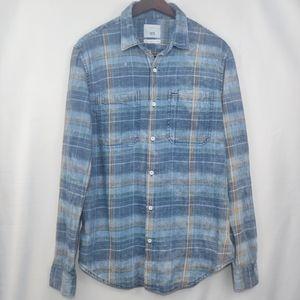 original 1975 zara mens shirt bleached